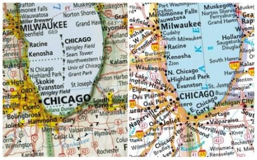 Abb. 3: Vergleich zweier Kartenauschnitte von Imus und National Geographic © Imus Geographics, National Geographic