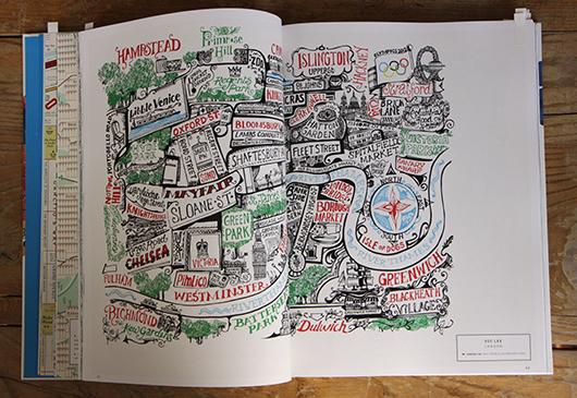 Abb. 5: Topographische Karte Londons für die<em> Elle Decoration</em> China © Gestalten Verlag