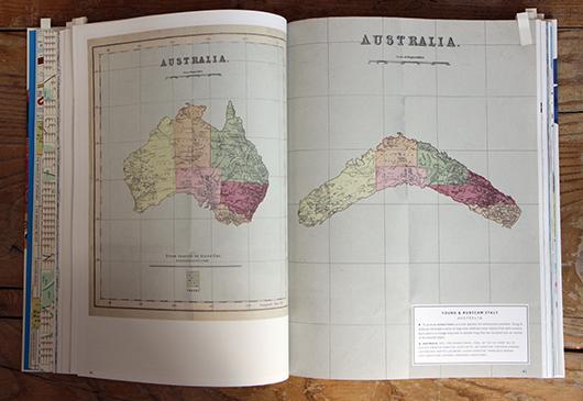Abb. 8: Karte in historischer Anmutung für Azonzo Travel © Gestalten Verlag