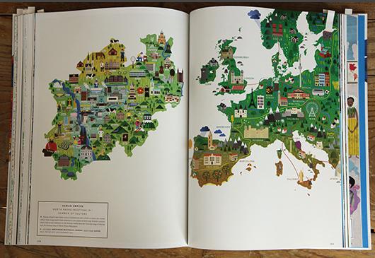 Abb. 10: Kartenillustrationen von Human Empire für <em>Die Zeit</em> © Gestalten Verlag
