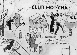 "Abb. 2: Club Hot Cha, Ausschnitt aus der ""Night-Club Map of Harlem"""