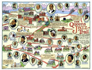 Abb. 7: Queens Jazz Trail Map von Tony Millionaire (Ephemera Press)
