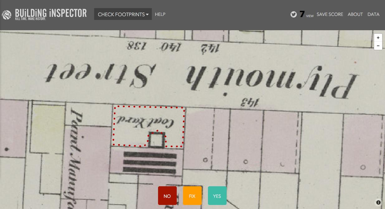 Abb. 3: Entspricht der automatisch erkannte Grundriss dem tatsächlichen Grundriss auf der Karte?