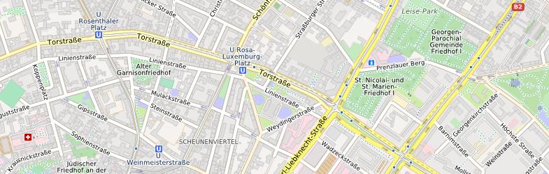 OpenMapSurfer in mittlerer Zoomstufe in Berlin