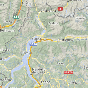 OpenMapSurfer in mittlerer Zoomstufe in Italien
