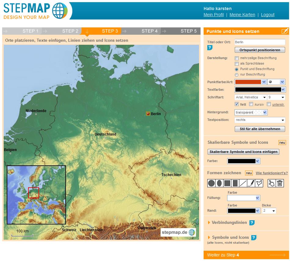 eigene karte erstellen StepMap – einfach eigene Karten erstellen | Die bemerkenswerte Karte