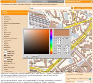 Abb. 4: Gstaltung der regionalen Karte in StepMap © StepMap
