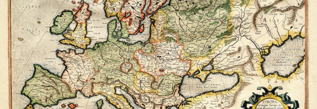 Europa (Ausschnitt) in Mercators Atlas (Public Domain, Library of Congress)