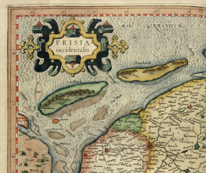 Friesland (Ausschnitt) in Mercators Atlas (Public Domain, Library of Congress)