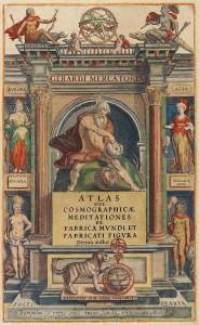 Titelbild aus Mercators Atlas (ULB Darmstadt)
