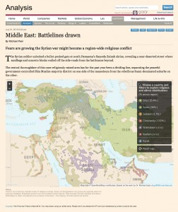 Financial Times Kartenstil, Bild von Mapbox