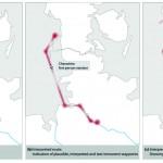 Abb. 3: Visualisierung unpräziser Wegverläufe © Ein literarischer Atlas Europas