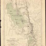 Specialkarte des grossen Salzsee's von Utah und seiner Umgebungen